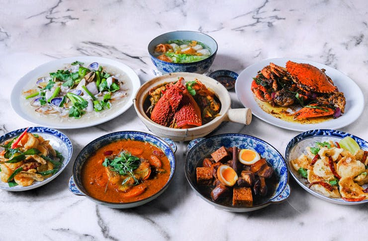 Various dishes from Amah restaurant in Sydney