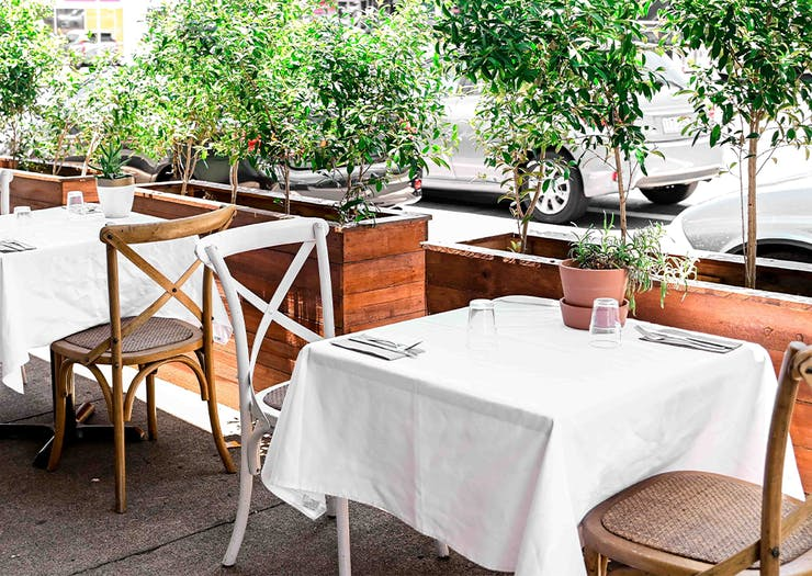 outdoor tables at ant and ola
