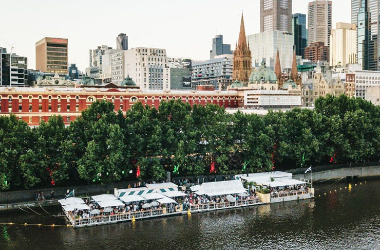 Arbory Afloat bar on the Yarra River.