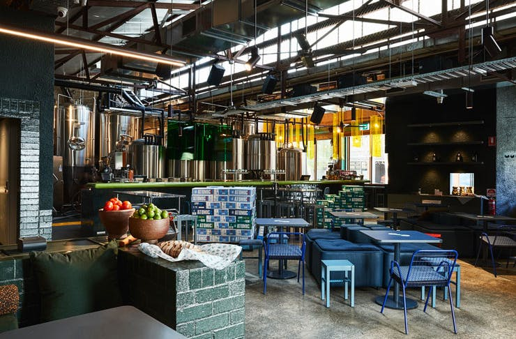 The interior of Atomic Beer Project in Redfern, Sydney.