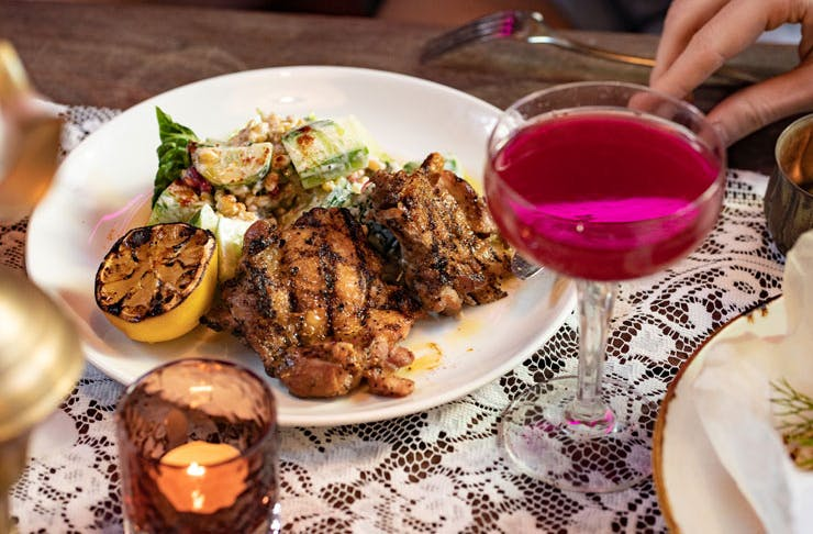 A dish from Avi's Kantini.