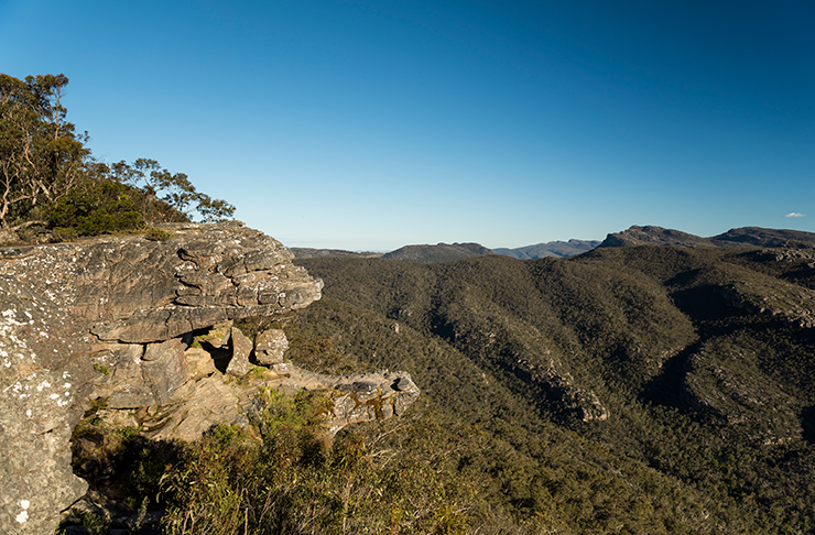 The gigantic rock formations at the Balconies look-out in The Grampians.