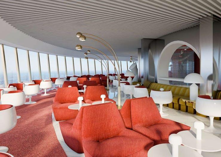 The interior at Bar 83.