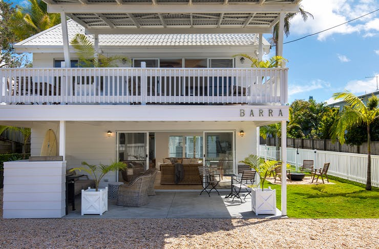 a white beachhouse