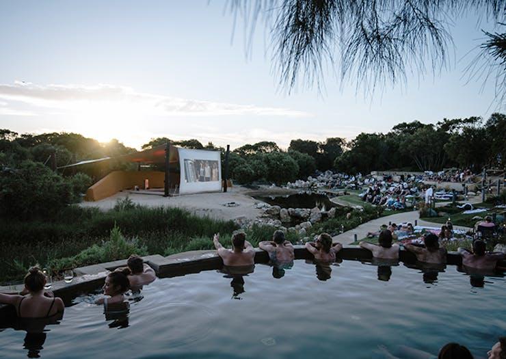 Get Steamy At Peninsula Hot Springs Bathe In Cinema