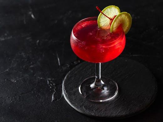 A Raspberry Vodka Martini