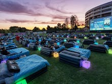 Snuggle Up Under The Stars At Brisbane's First Outdoor Bed Cinema