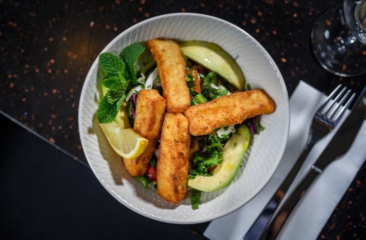 a haloumi salad