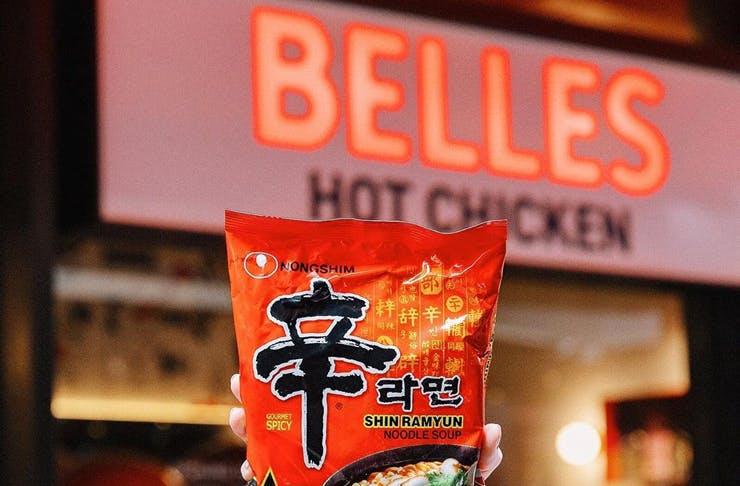 belles hot chicken shin ramyun