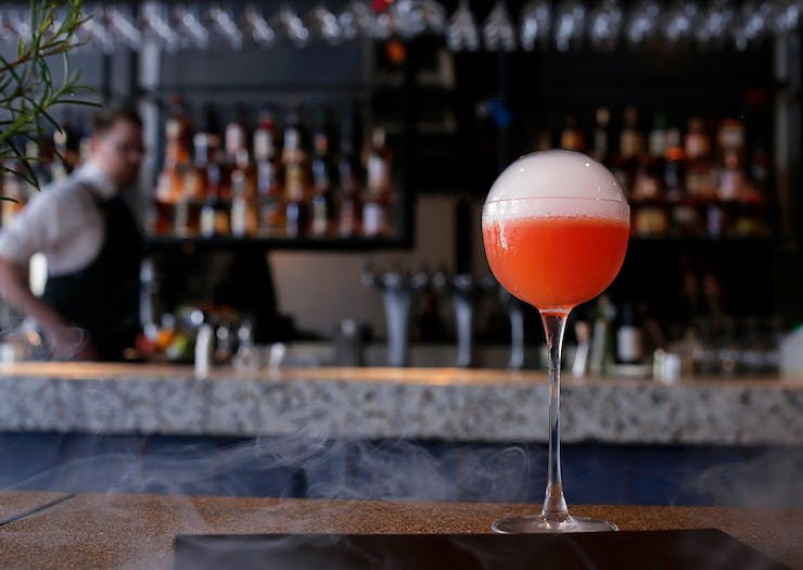 bubble cocktail at one of Perth's best bars