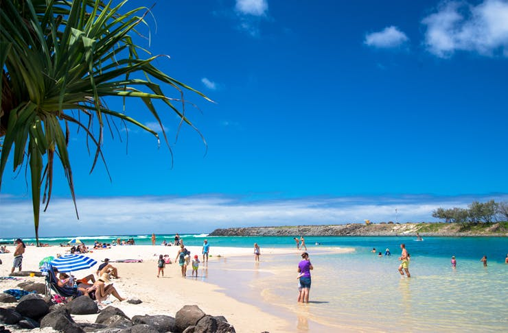 best beaches gold coast