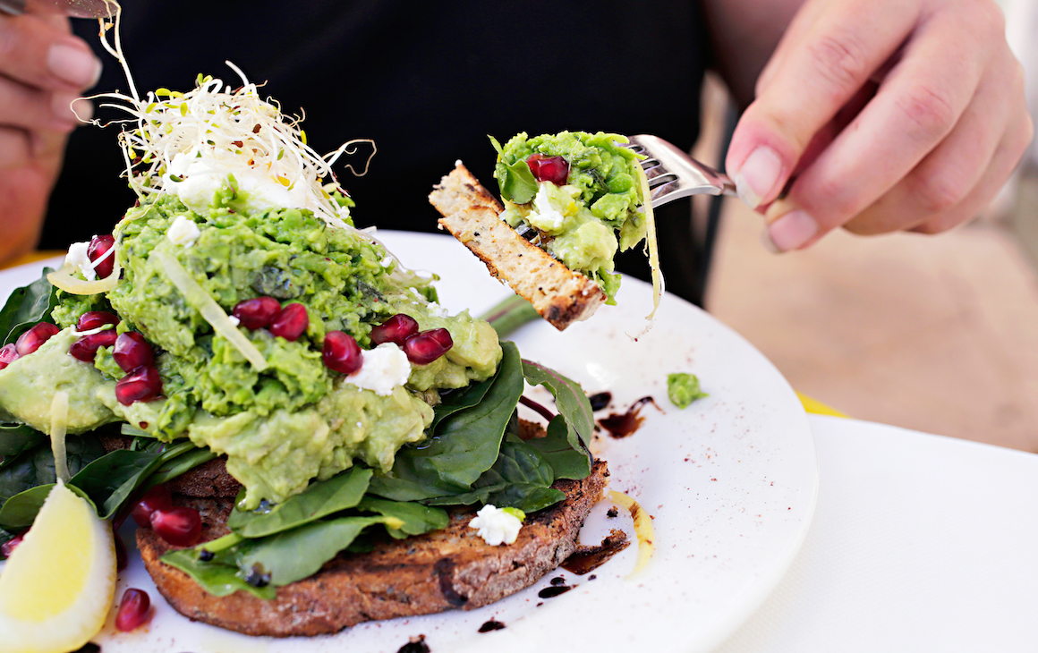 smashed avo dish at Duck Duck Bruce