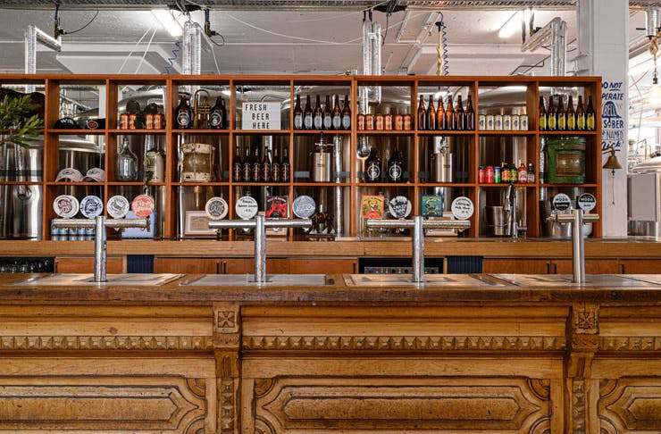 The bar at Willie The Boatman brewery in Sydney.