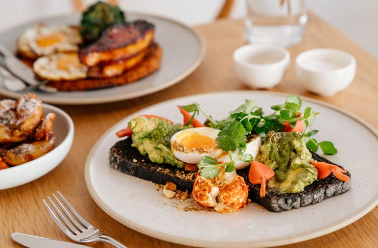 Sydney cafe, Quick Brown Fox's take on the simple avocado on toast.