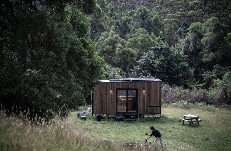 One of the Unyoked eco-friendly cabins in NSW.