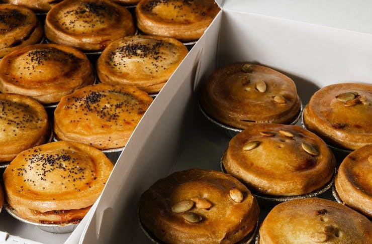 Gluten free pies from Wholegreen Bakery