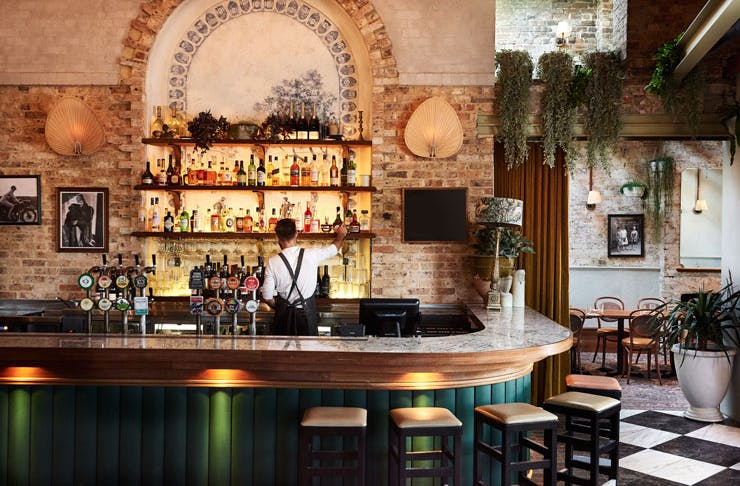 The bar at Tilly May's in Surry Hills, Sydney.