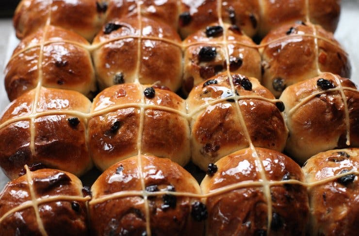 Auckland hot cross buns, Easter in Auckland, Little & Friday hot cross buns, Easter celebrations in Auckland