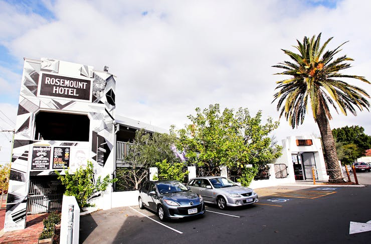 Rosemount Hotel exterior, hosting one of the best hottest 100 parties in Perth