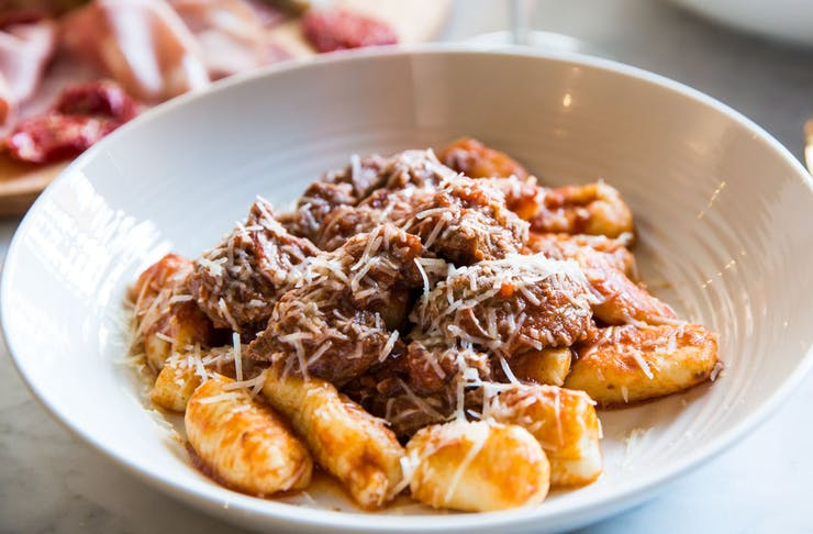 A bowl of gnocchi ragu from Ms Frankie in Cremorne, Victoria.