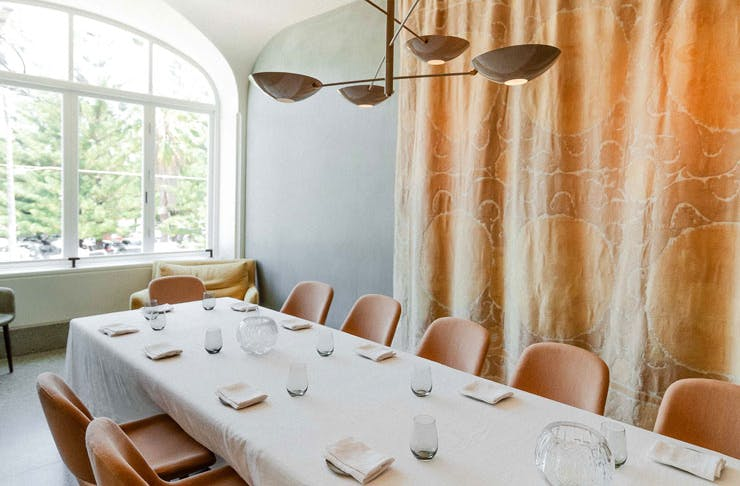 The private dining room at mimi's in Sydney.