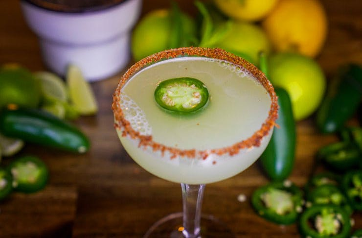 A jalapeno margarita from Fortunate Son bar in Enmore, in Sydney.