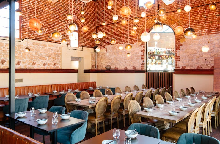 inside the beautiful Tonic + Ginger in Fremantle