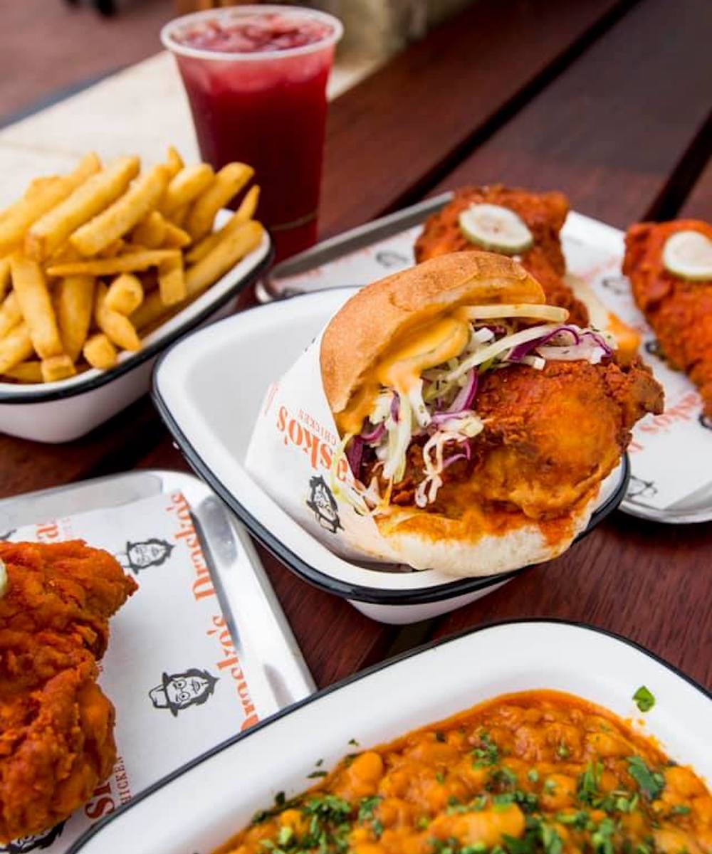 a few dishes from Drasko's Hot Chicken