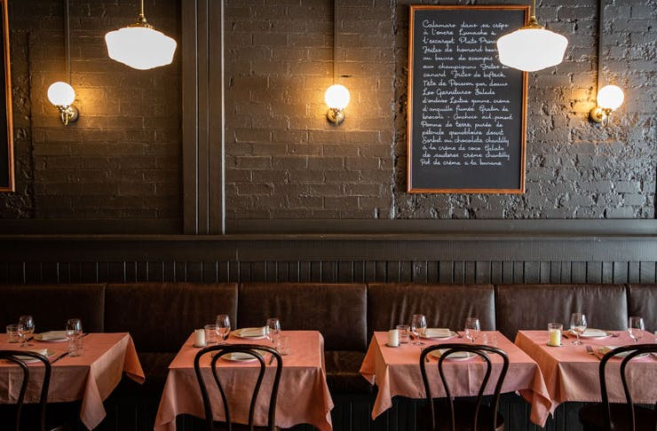 The dining room at Bistrot 916 in Potts Point.