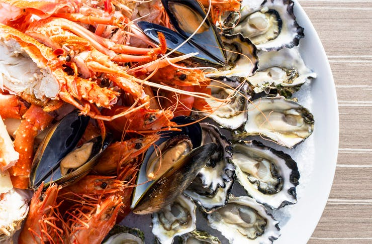 best seafood auckland, best oysters auckland, seafood platter ostro, where to get seafood auckland
