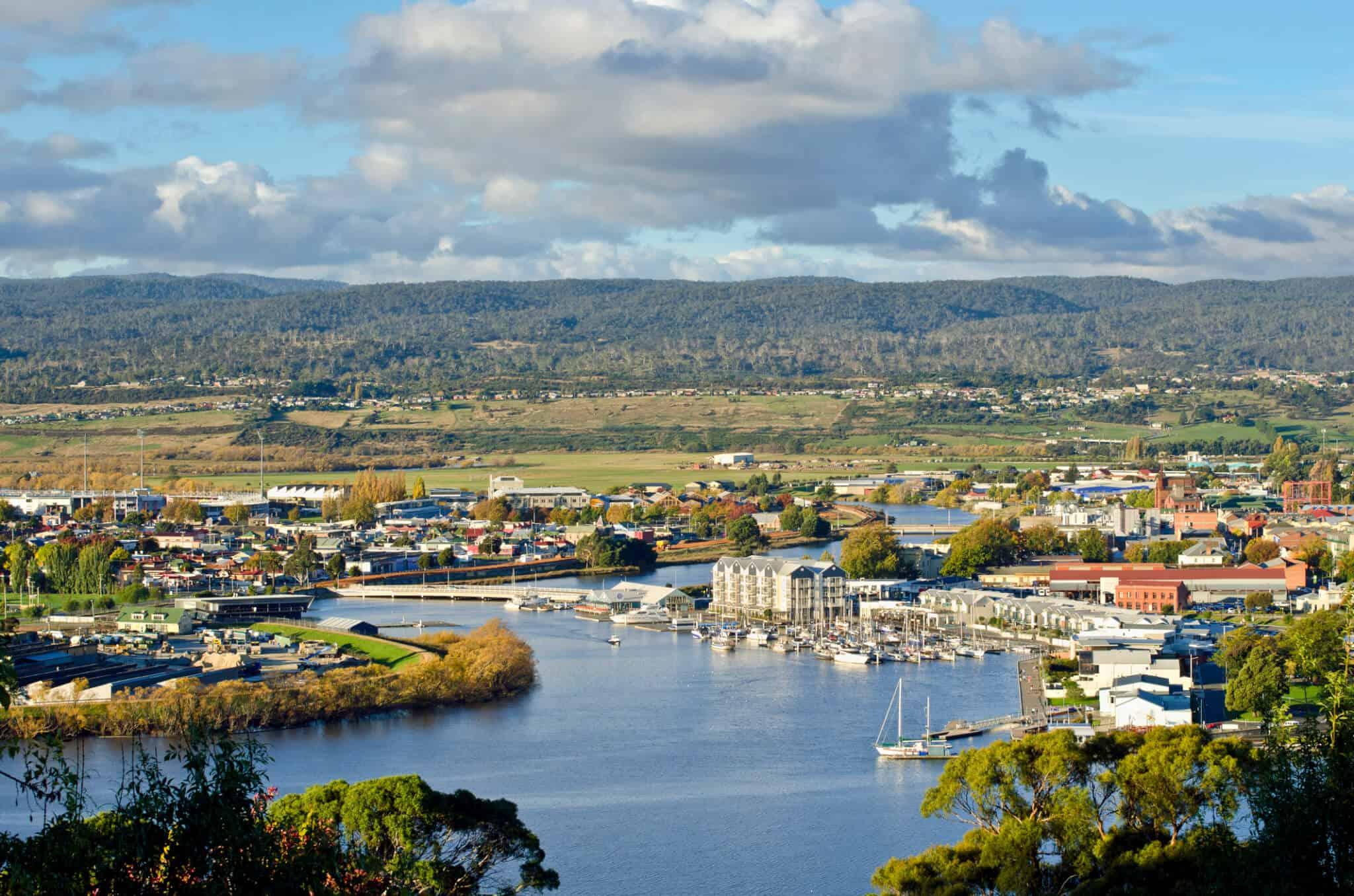 A stunning shot of Launceston in Tasmania.