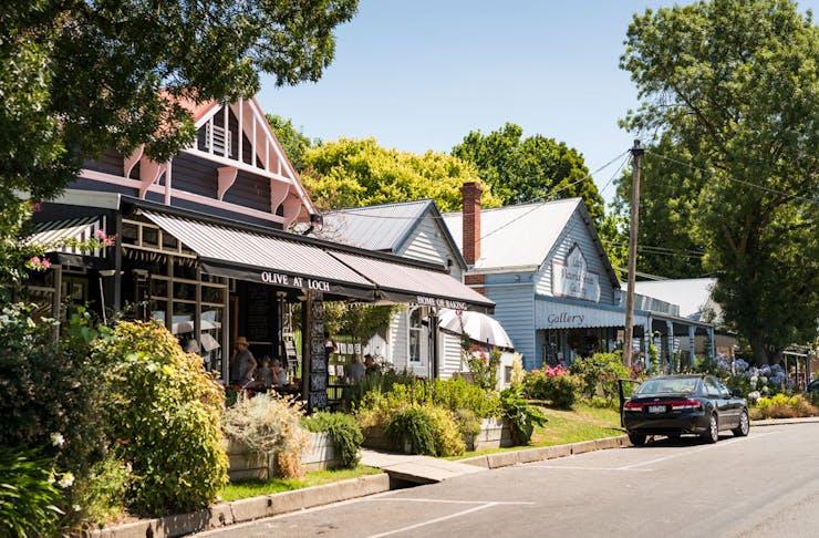 The main street of Loch Village in Victoria.