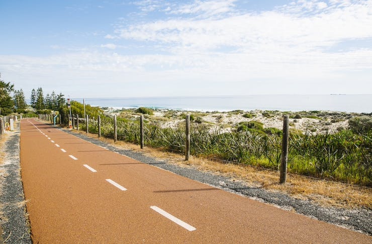 a pathway near the ocean