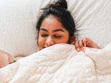 Forget Your Body Pillow, These 8 Amazing Weighted Blankets Are Like A Giant Hug