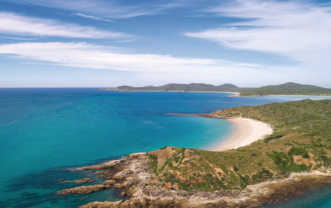 Great Keppel Island seen from the sky