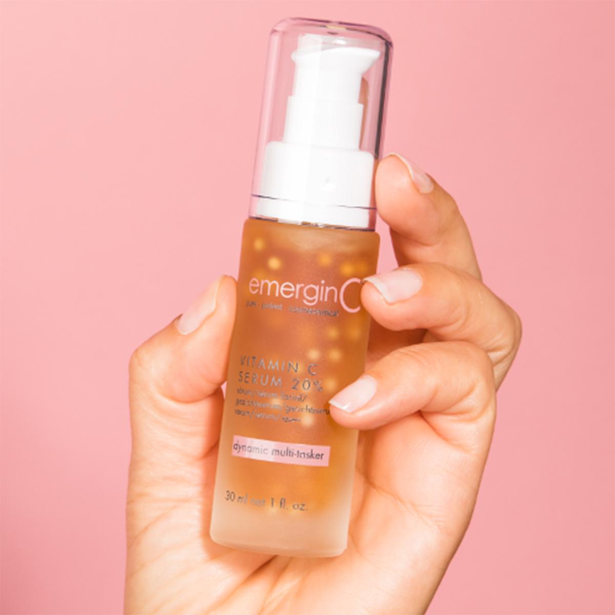 a bottle of emerginc serum