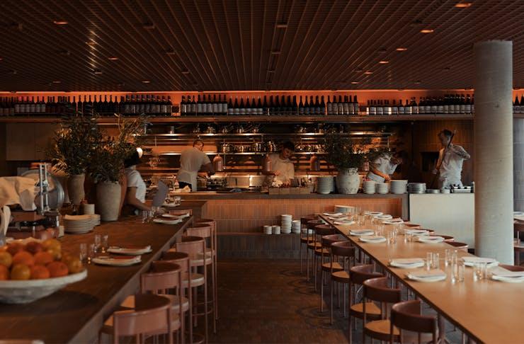 interior of bianca restaurant