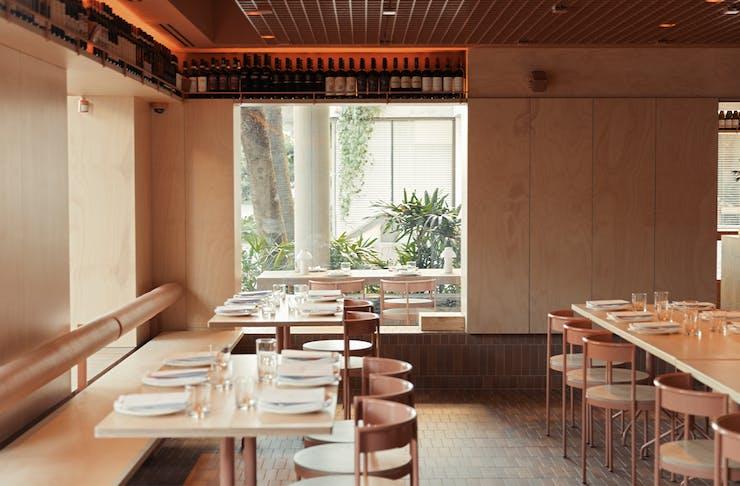 tables inside bianca