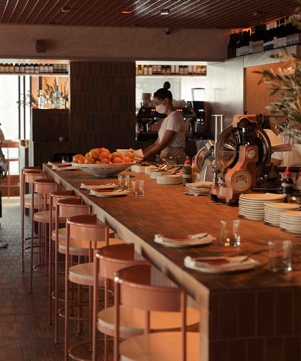 the salumi bar inside bianca