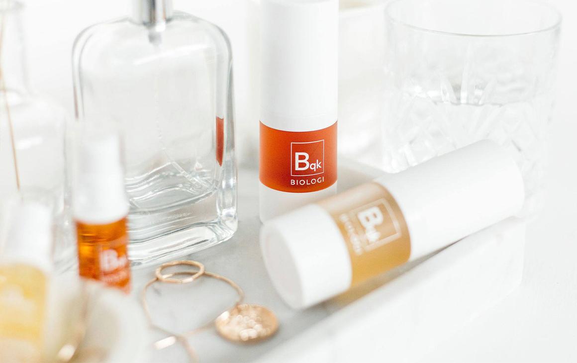 Several bottles of biologi face oils and serums