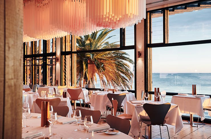 Stokehouse overlooking the water.