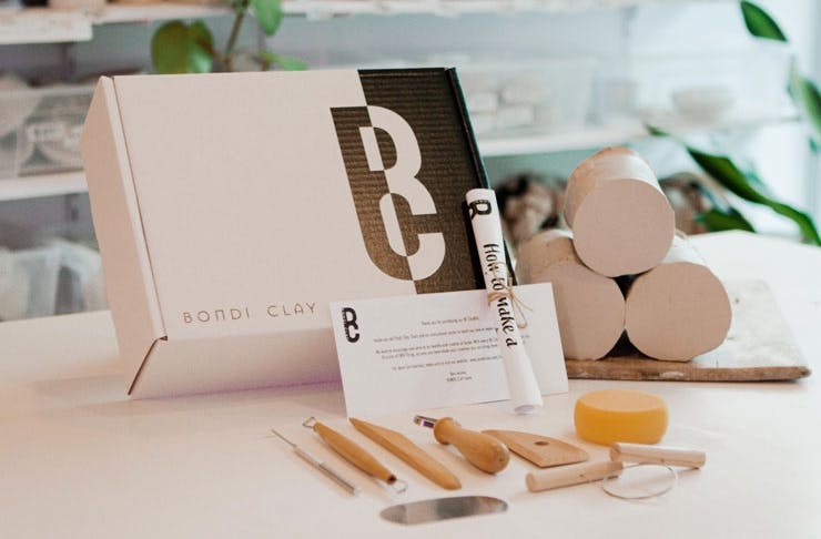 A clay kit for at-home pottery by Bondi Clay