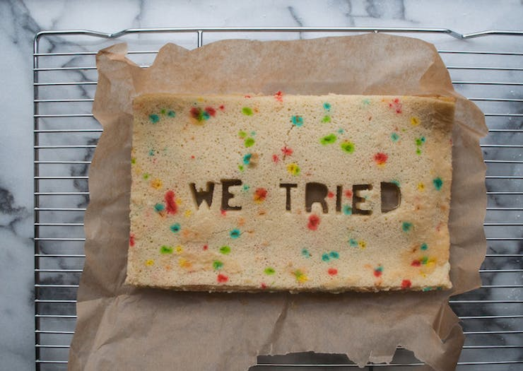break up cake