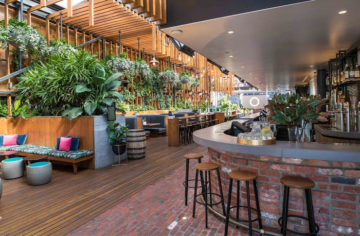 Inside The Osbourne hotel's beer garden