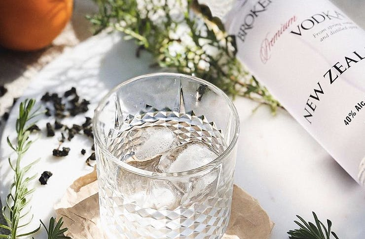Broken Shed Vodka sits on a table in an image from Society Liquor