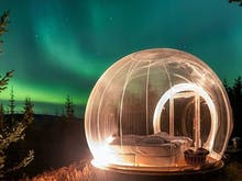 Gaze Up At The Northern Lights From Iceland's Bubble Hotels