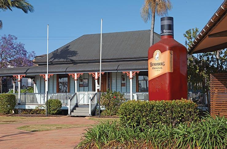 A photo of the Big Rum Bottle in Bundaberg, Queensland.