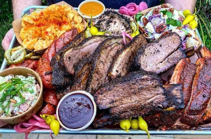 a plate of juicy looking meats