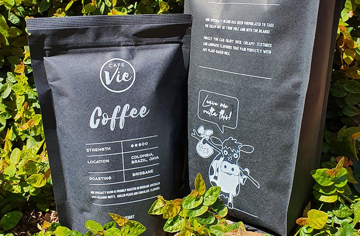 A close-up of Cafe Vie's new coffee blend.