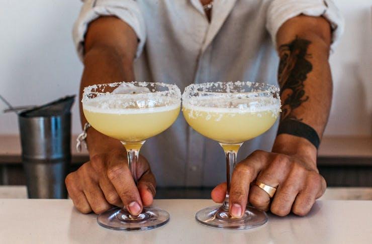 Cocktails at Calita.
